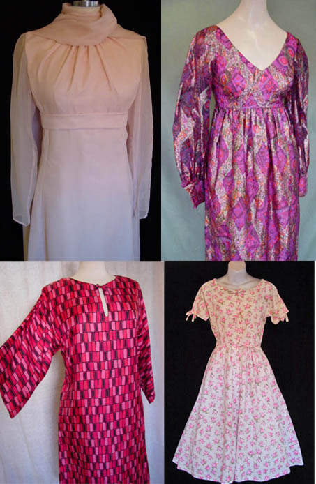 Pinkdresses, vintage, fashion, clothing, daisyfairbanks, dresses, pink