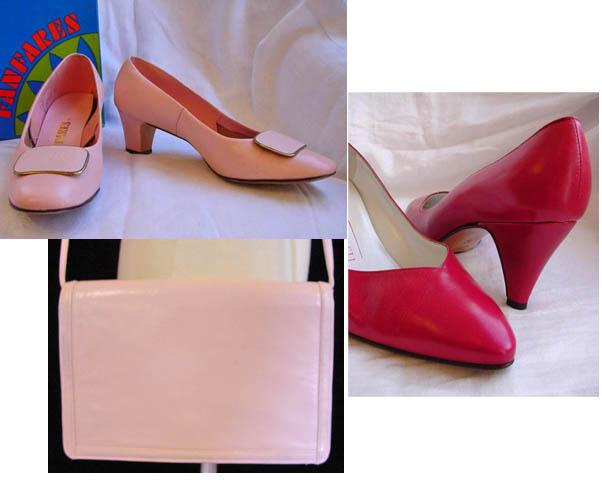 Pinkshoes, pink, shoes, purse, vintage, fashion, clothing, handbag, daisyfairbanks