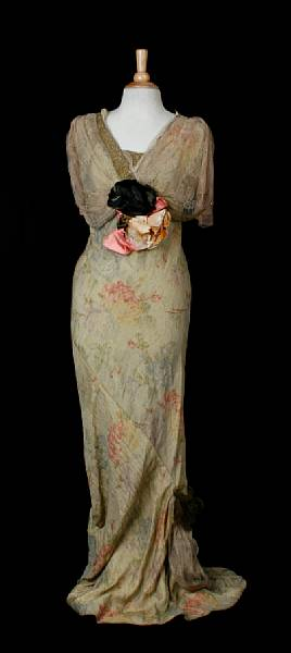 vintage, 1930s, evening dress