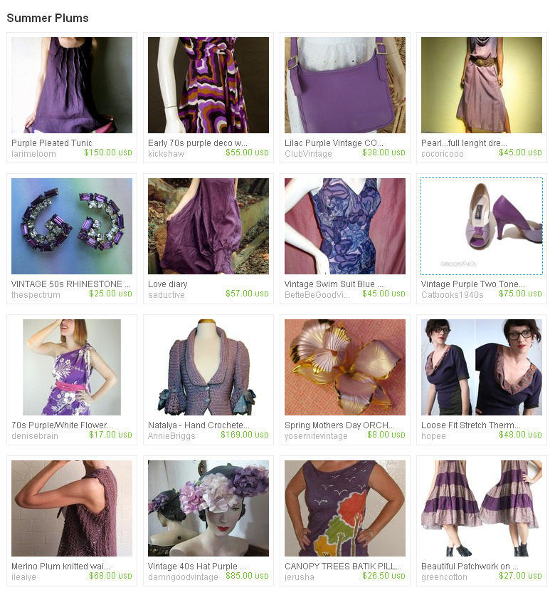 summer plum treasury - etsy
