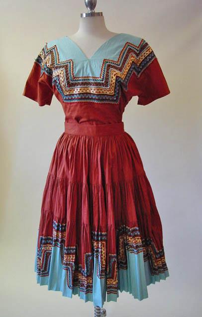 50s Harlequin Patio Dress Set