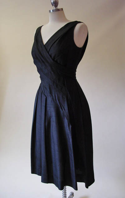 vintage black silk dress - daisyfairbanks