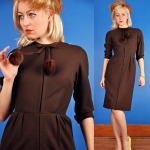 Brown Wool Dress - julypoppy