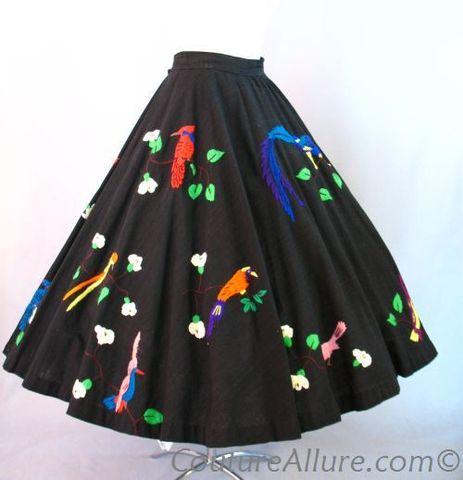 Vintage-bird-skirt