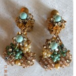 Vintage Haskell Cluster Earrings - brendadeco