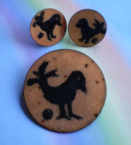 Copper-50s-earrings
